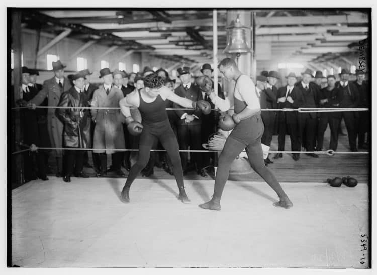 jack Dempsey Boxing In An Old Ring