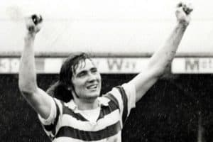 Robin Friday celebrates a gosal for Reading FC