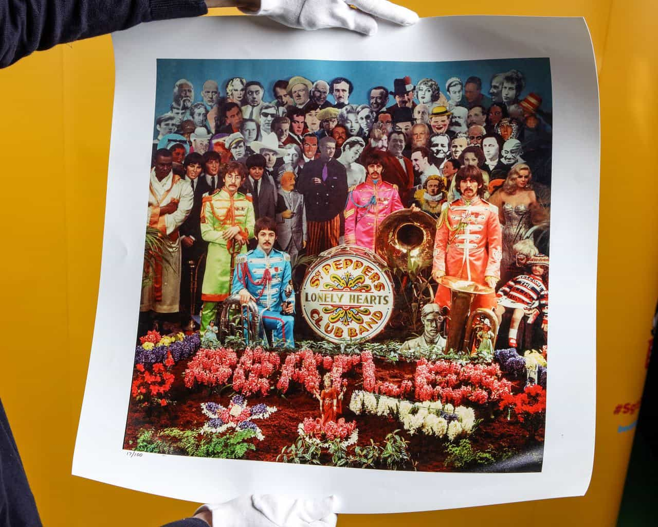 Alternative cover to the record Sgt. Pepper's Lonely Hearts Club Band by Sir Peter Blake