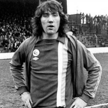 Robin Friday in a Cardiff City kit.