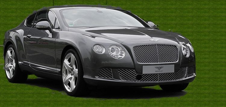 A black Bentley Continental GT