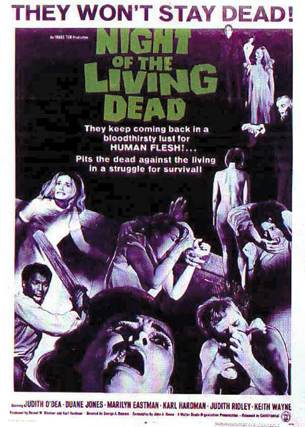 Zombies film Night Of The Living Dead