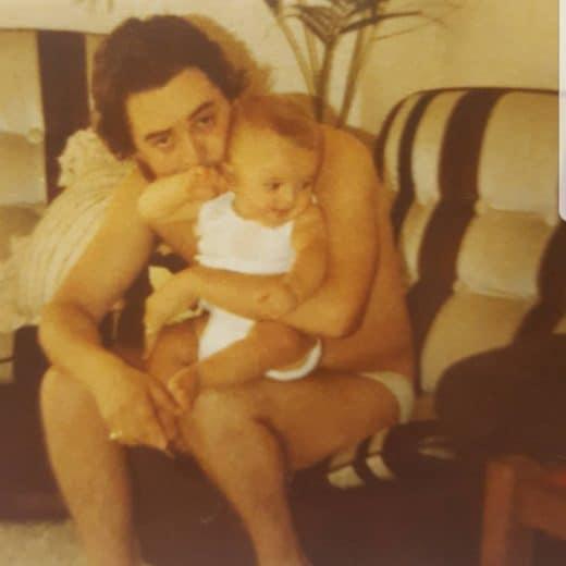Adrian Simon with father Warren Fellows