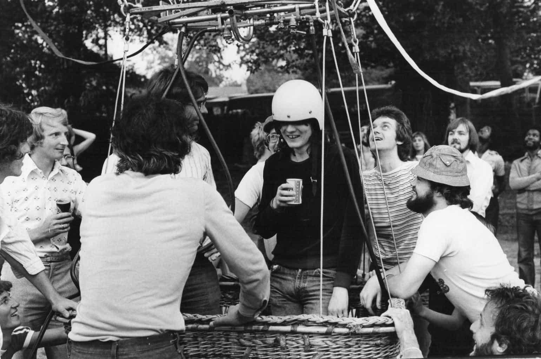 Allan Jones in Richard Branson's balloon