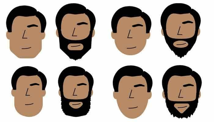 Face shapes for beards