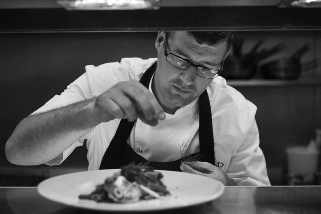 Craig Atchinson cooking an Autumn recipe