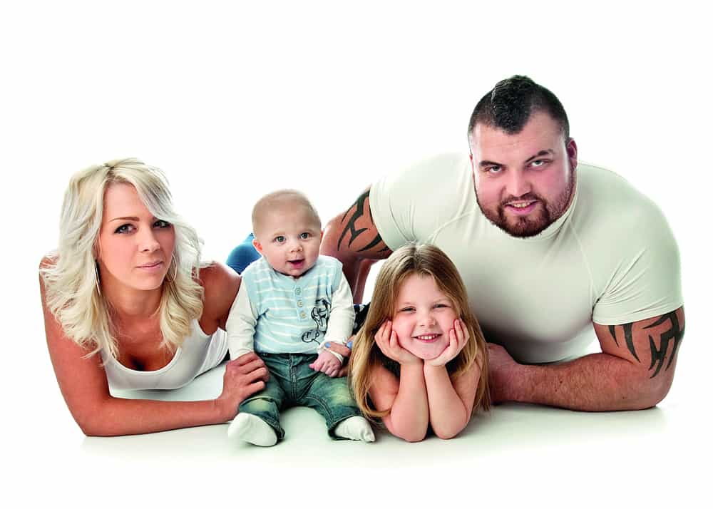 World's strongest man Eddie Hall with family
