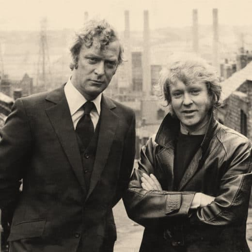 Michael Caine standing alongside author Ted Lewis
