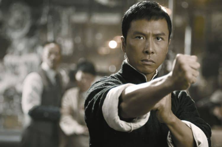 Donnie Yen as Ip Man in combat stance