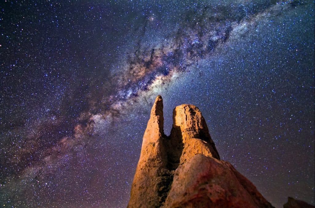 A stunning night time sky lit up by the stars