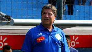Panama manager Hernán Darío Gómez in the dugout