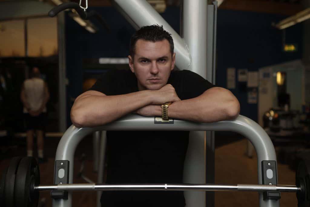 Matt Fiddes in the gym