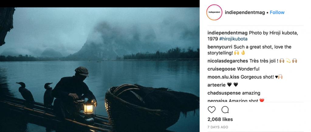 Instagram account @indiependentmag