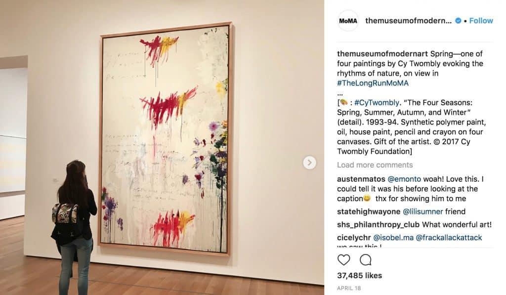 Instagram account @themuseumofmodernart