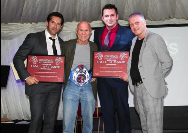 Matt Fiddes being inducted into the UK Martial Arts Hall of Fame