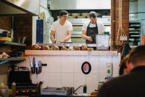 Baltic Bakehouse kitchen