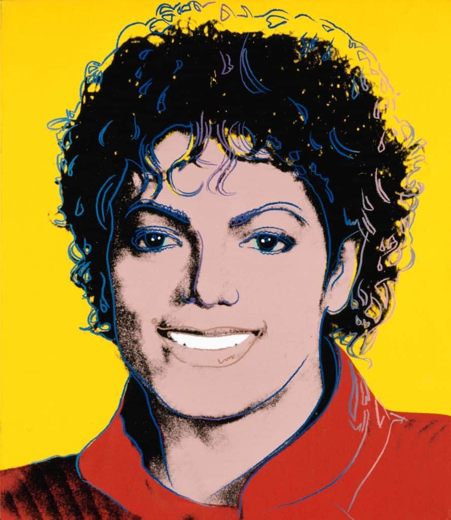 What's On Michael Jackson exhibition picture by Andy Warhol