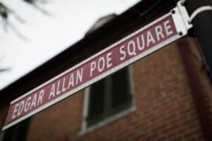 Edgar Allan Poe street sign