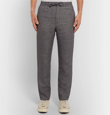 Summer style essential linen and wool trousers