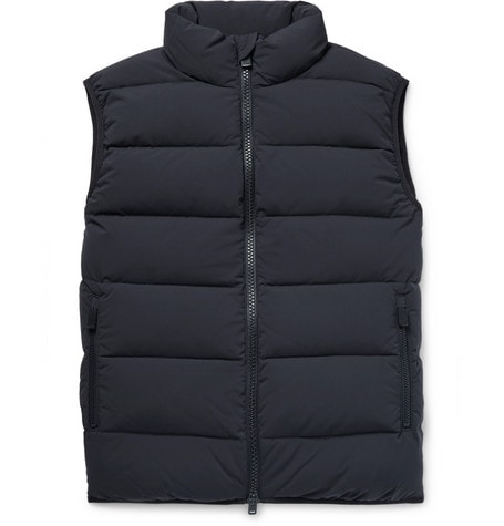 Blue Quilted Nylon Down Gilet