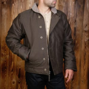 1944 N1 Deck Jacket Waxed Olive Pike Brothers
