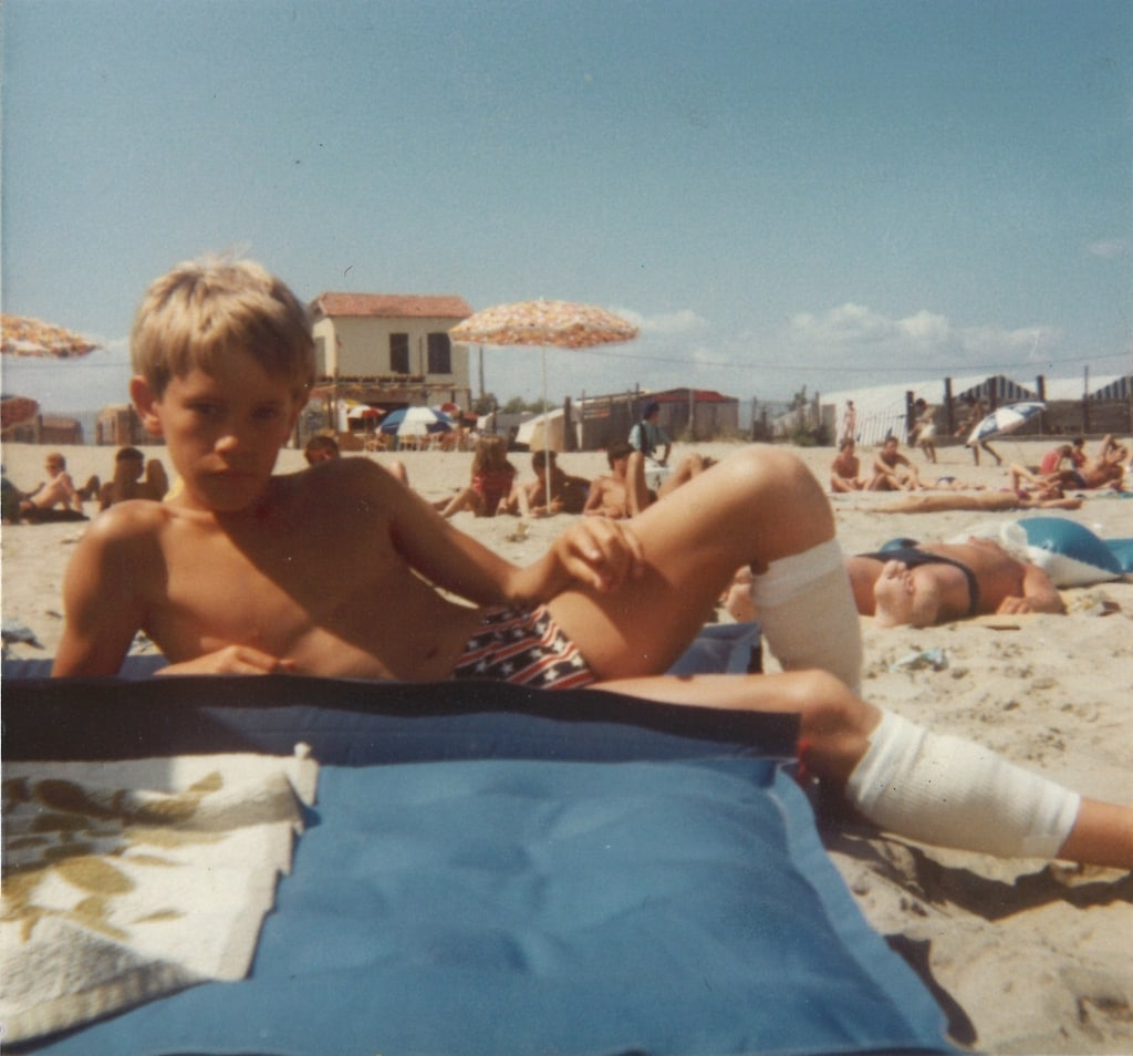 Ollie Ollerton on holiday in France as a young boy