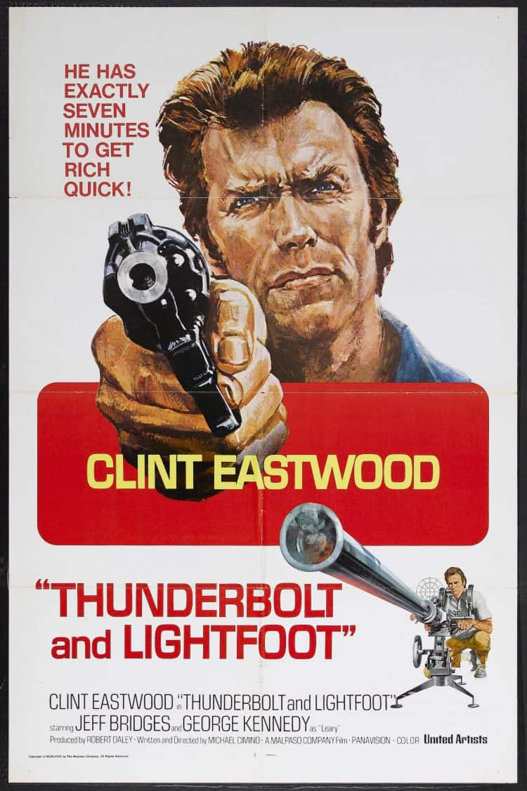 Thunderbolt and Lightfoot poster featuring Clint Eastwood