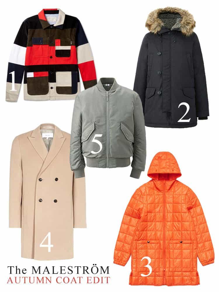 Montage of 5 Autumn coats