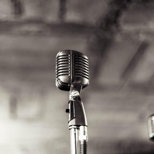 An old microphone