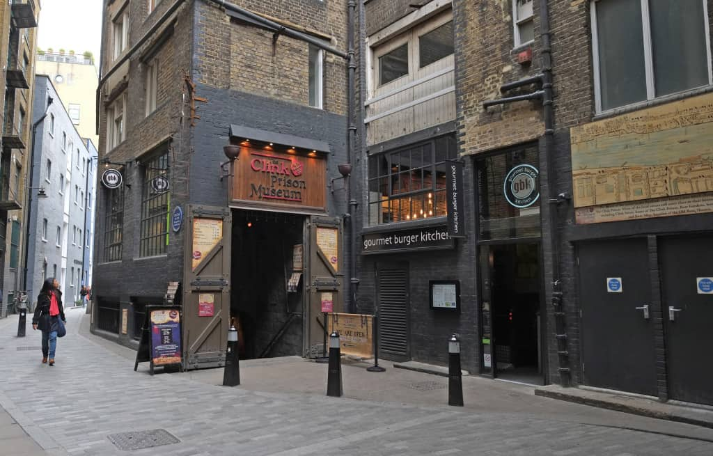 Picture of location of where The Clink Prison in London was