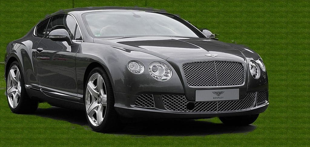 A black Bentley Continental GT