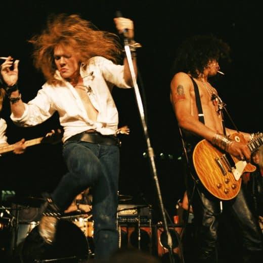 Guns N' Roses performing