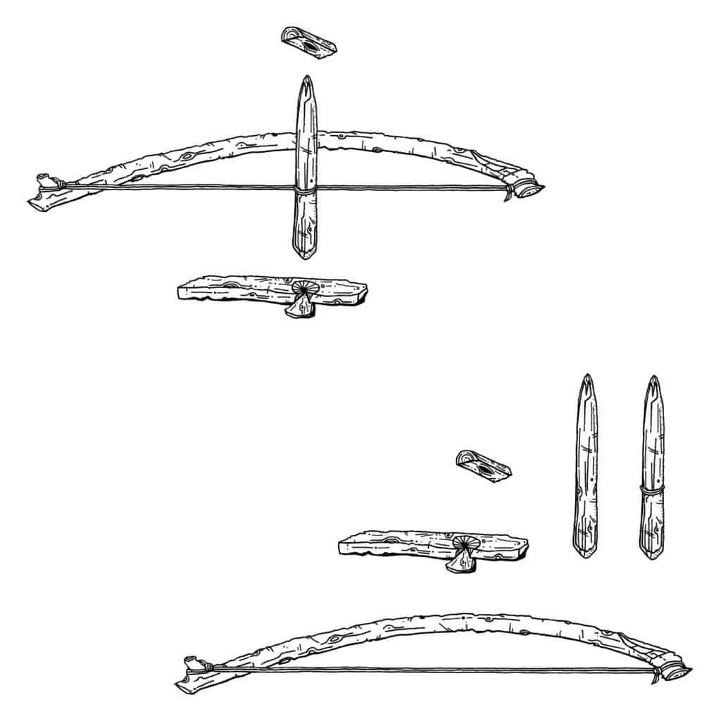 Diagram of a bow drill