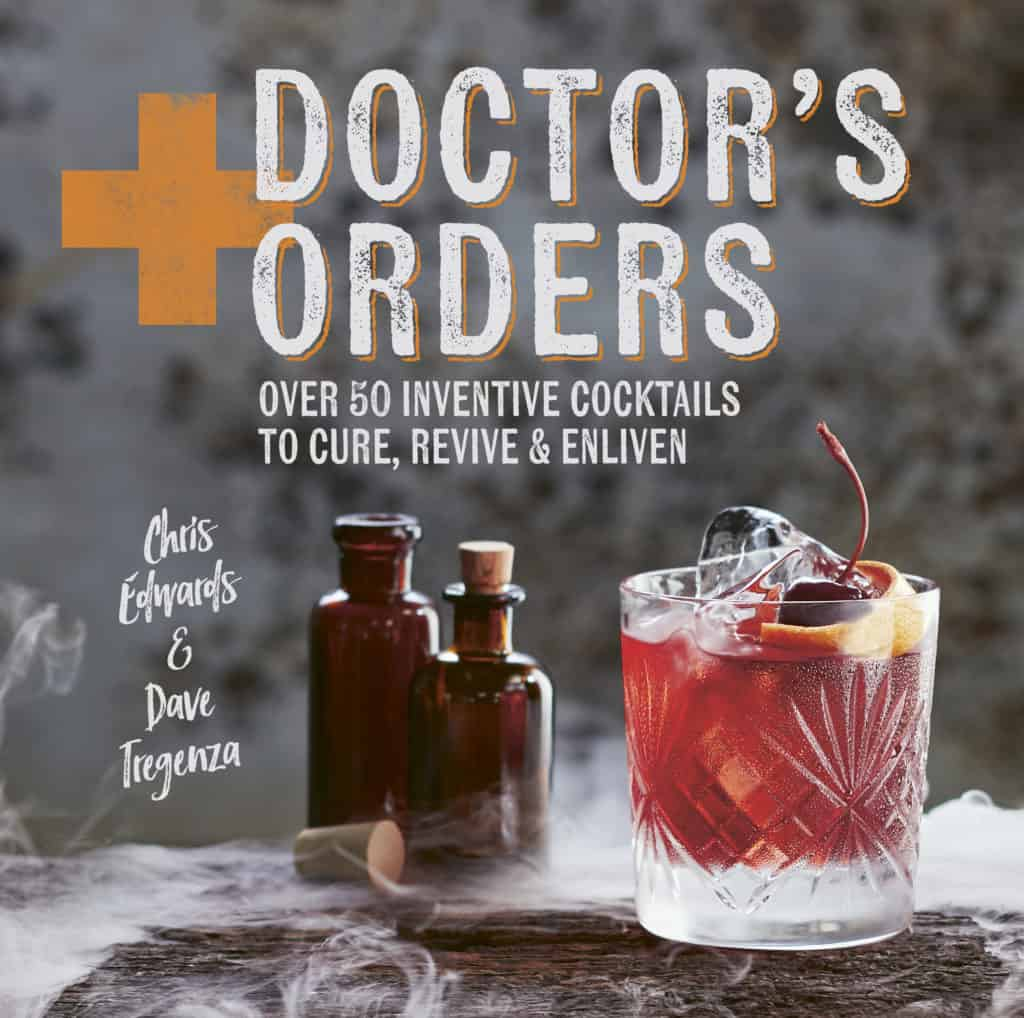The front cover of the Doctor's Orders cocktail recipe book