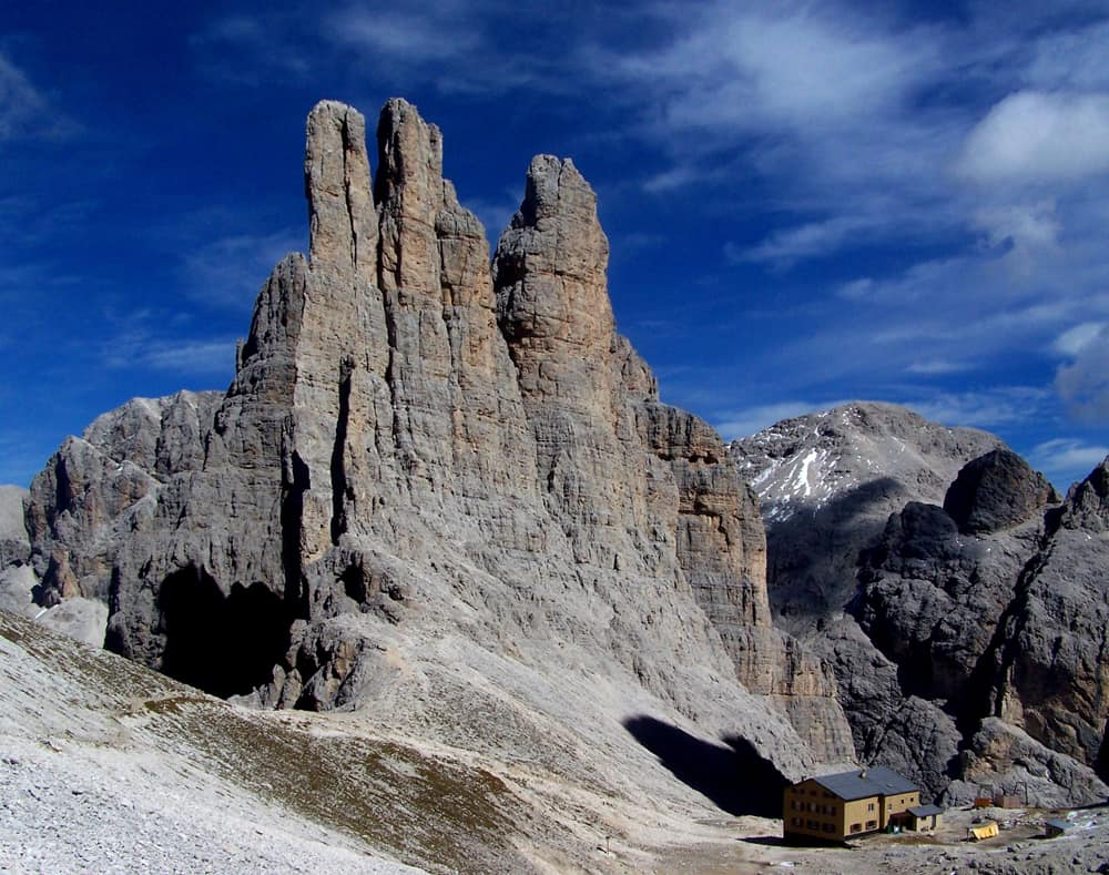 The Vajolet Towers mountain