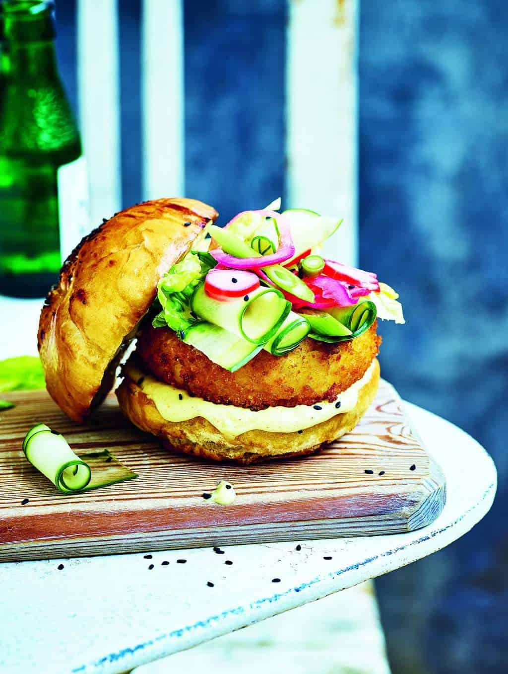 Vegan burger by Gaz Oakley
