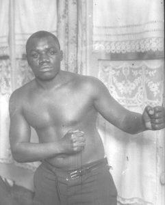 Sam Langford in boxing pose