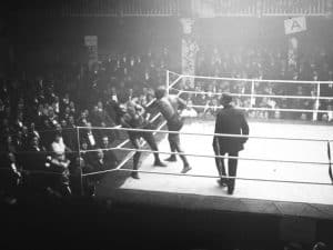 Boxer Sam Langford fighting in the ring