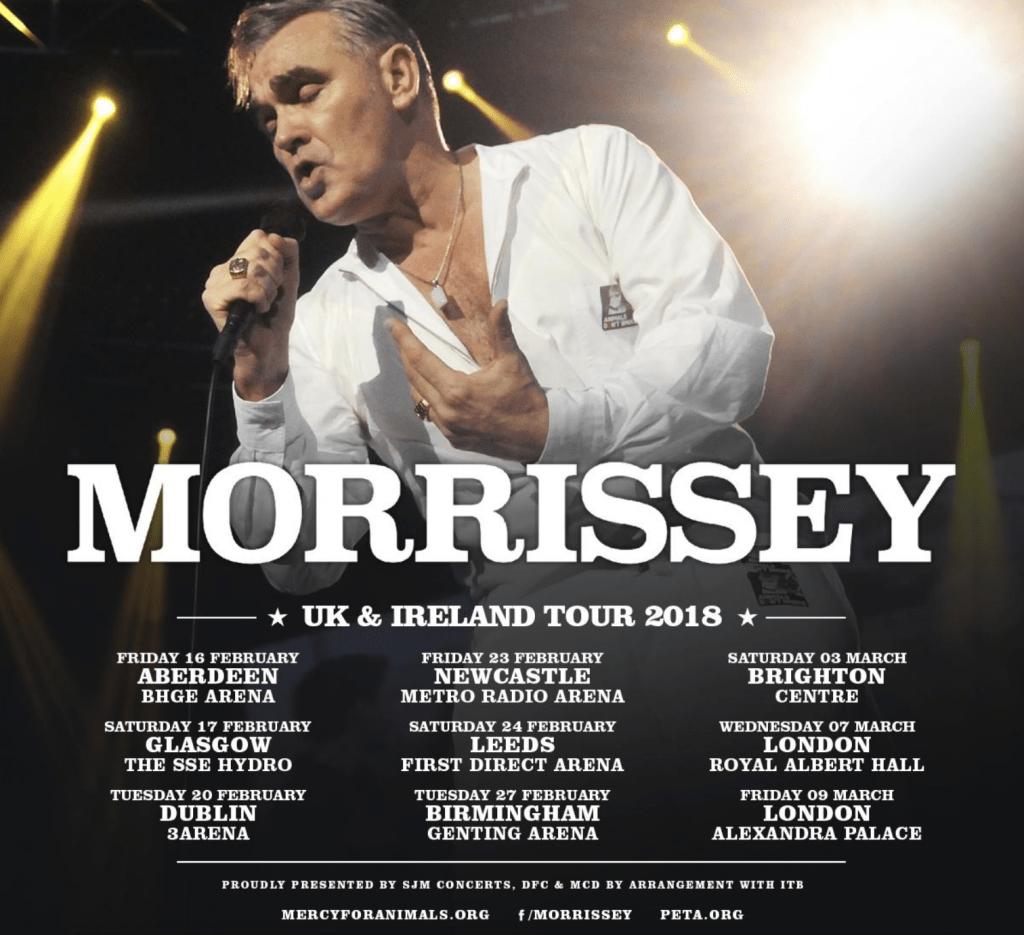 Morrissey 2018 tour