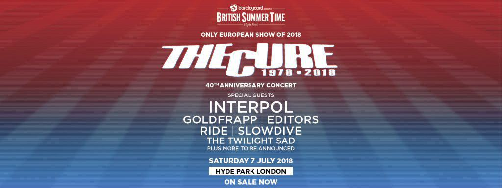 The Cure 2018 tour poster