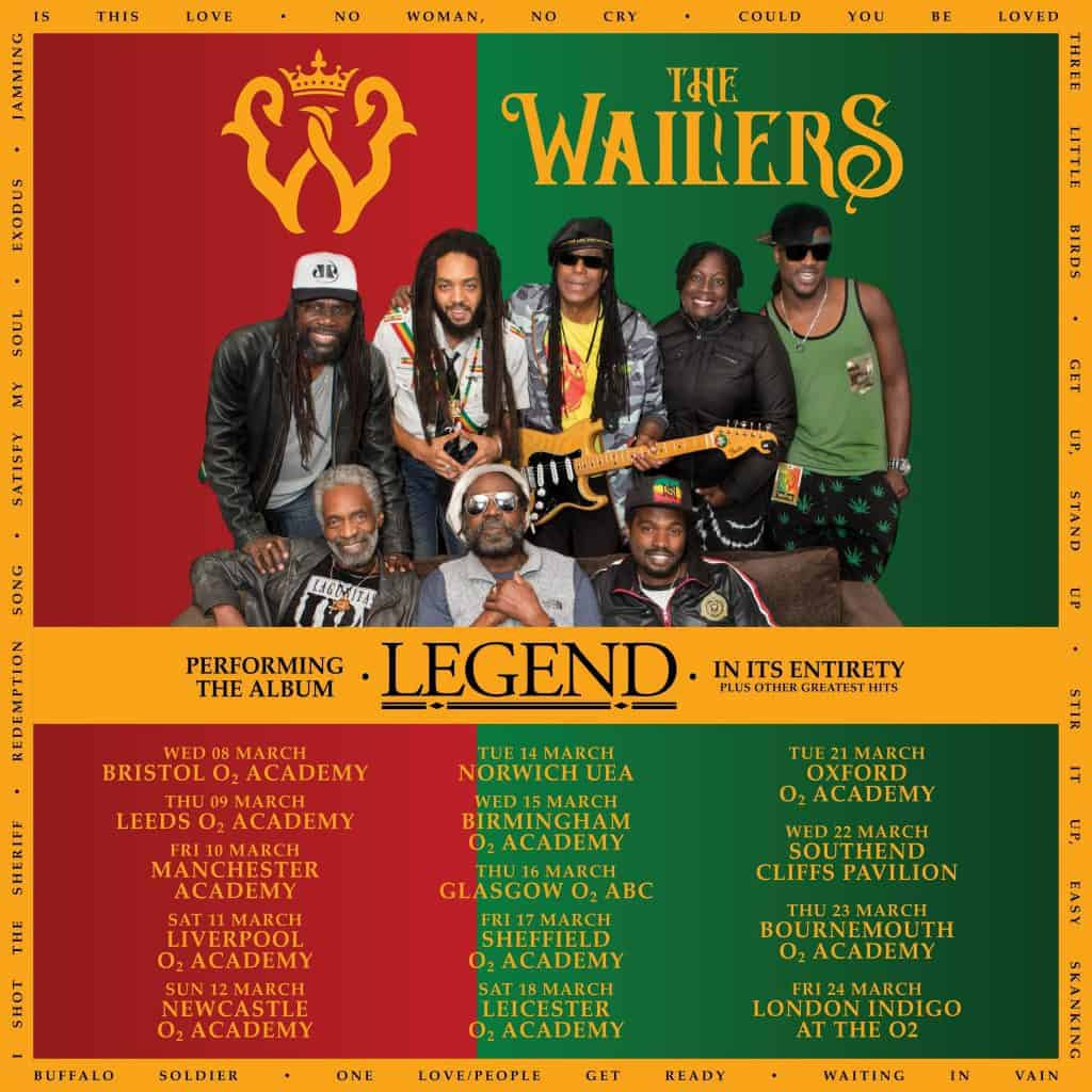 The Wailers 2018 tour