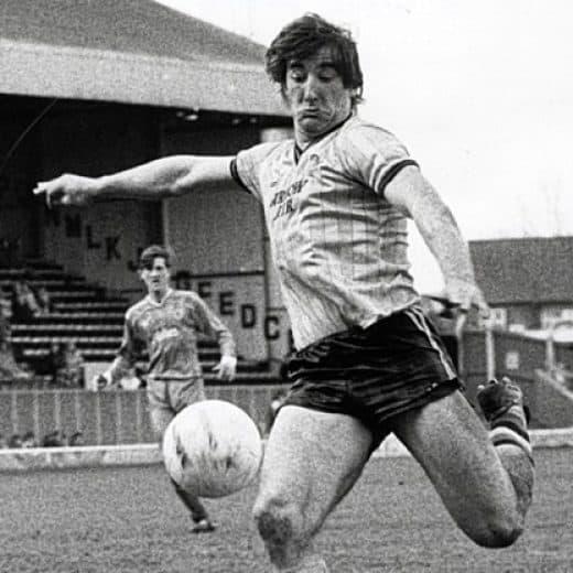 Billy Whitehorse striking the ball i