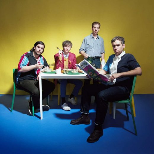 Parquet Courts sat around the breakfast table