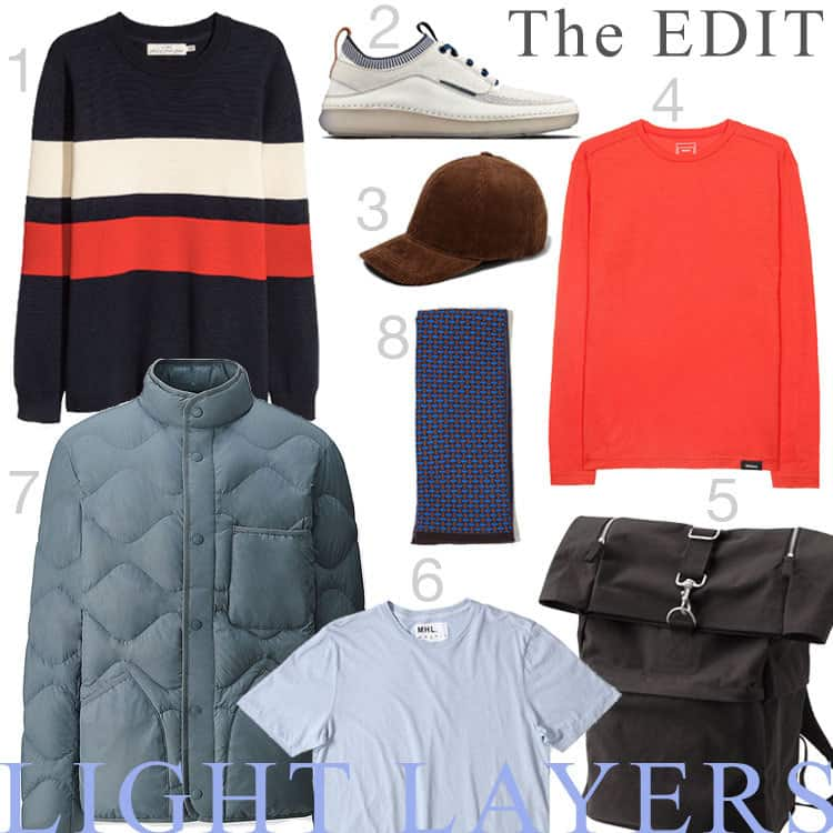 A selection of Spring style clothing for men