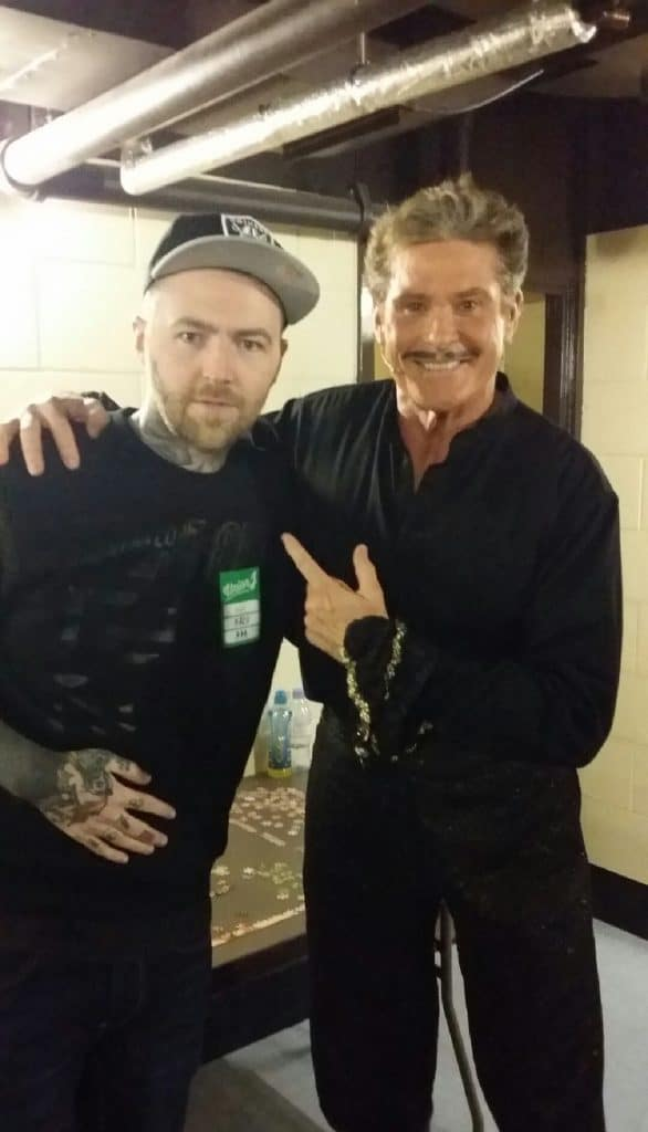 Tattooist Kevin Paul with david Hasselhoff