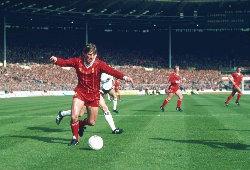 Kenny Dalglish playing for Liverpool at Wembley