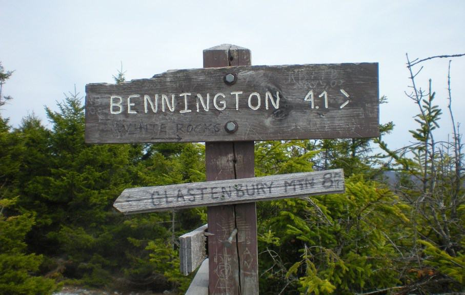 Sign in the Bennington Triangle