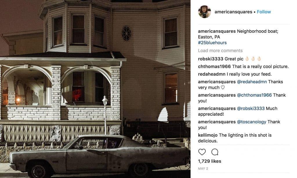 Instagram account @americansquares