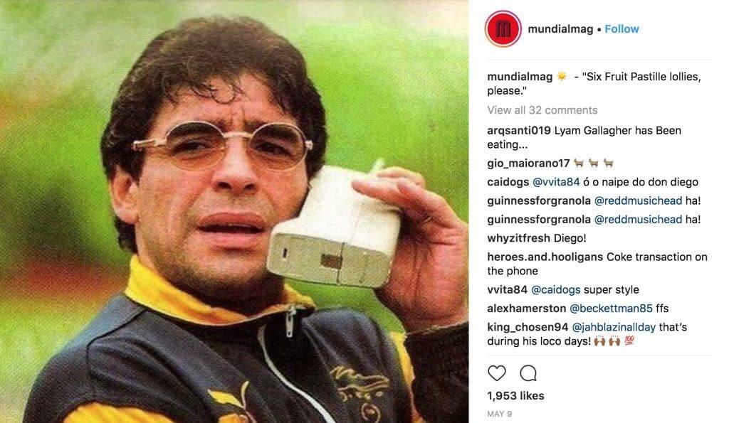 Instagram account @mundialmag