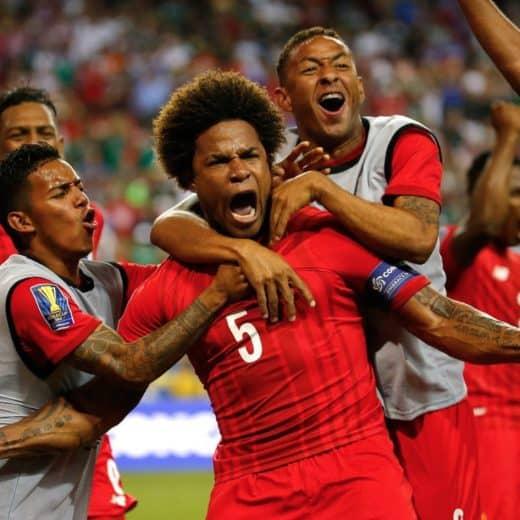 Panama players celebrating